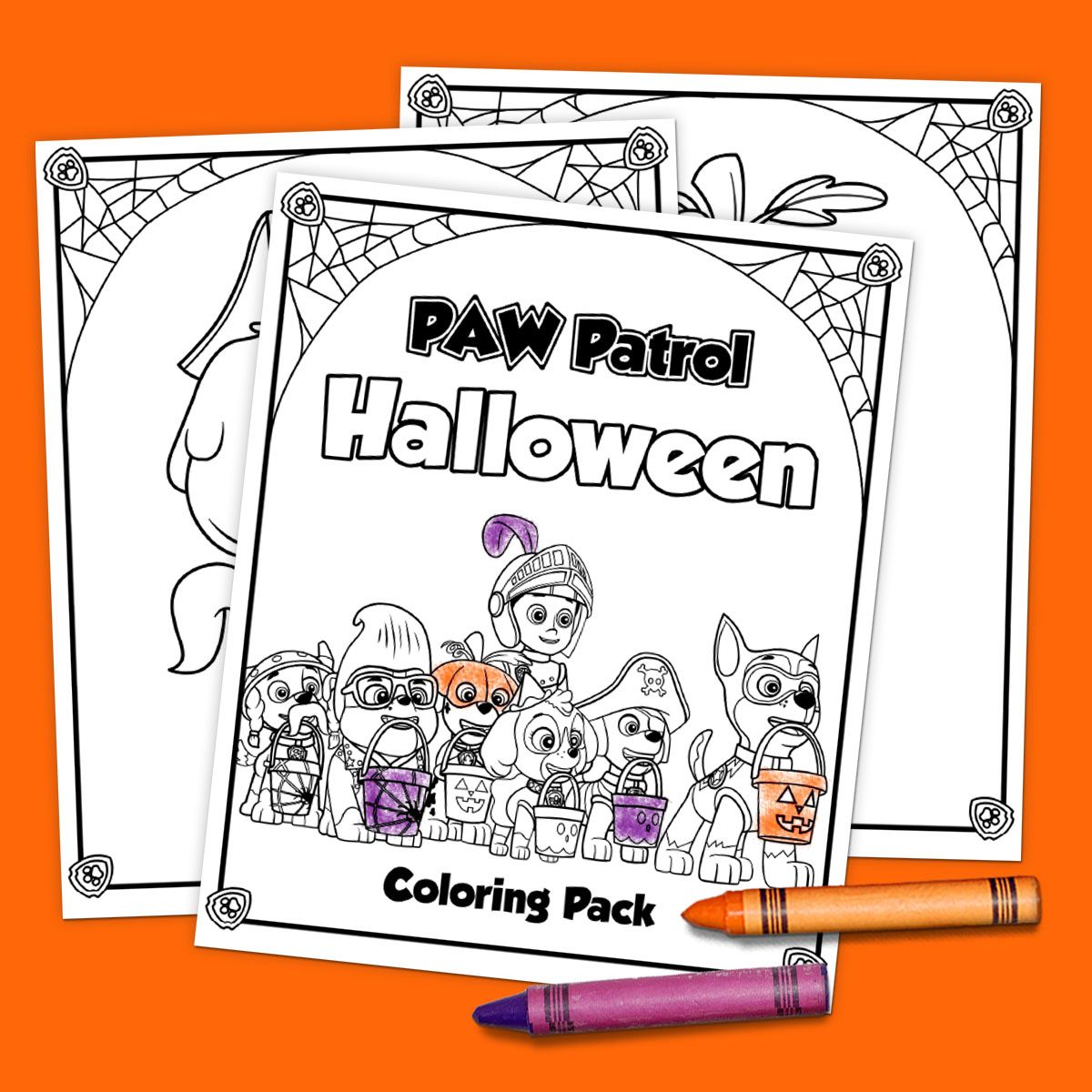 5 Paw Patrol Halloween Printables Halloween Coloring Halloween Coloring Pages Halloween Printables