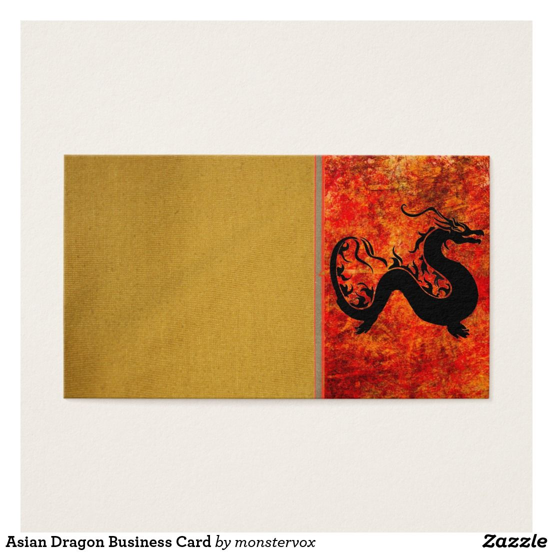 Asian Dragon Business Card