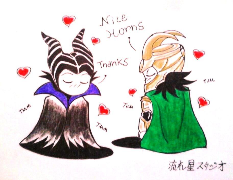 Loki X Maleficent By Nagareboshi71 Dibujos Loki 3