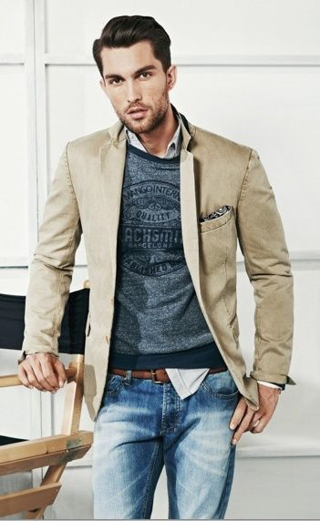 Stylist Tip for Men: How to Wear a Sport Coat | The layered look ...