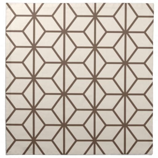 serviettes de table brown et motif g om trique beige d 39 art