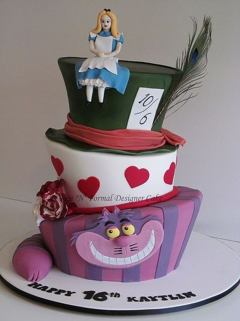Awe Inspiring Madhatter Alice In Wonderland Birthday Cake Met Afbeeldingen Personalised Birthday Cards Cominlily Jamesorg