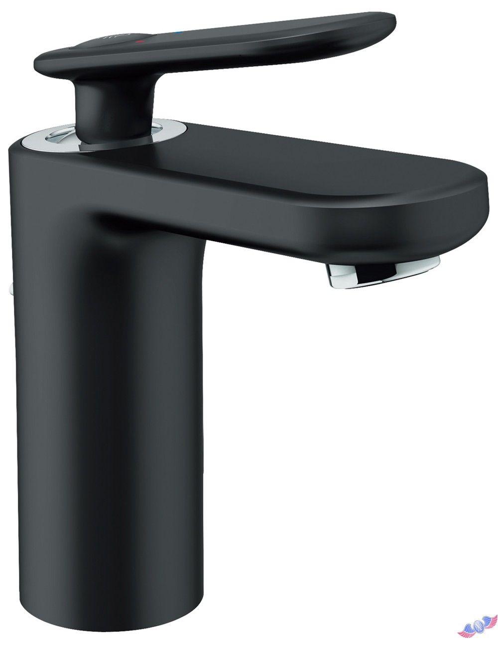 Veris Single Hole 1-Handle Low-Arc Bathroom Faucet in Velvet Black ...