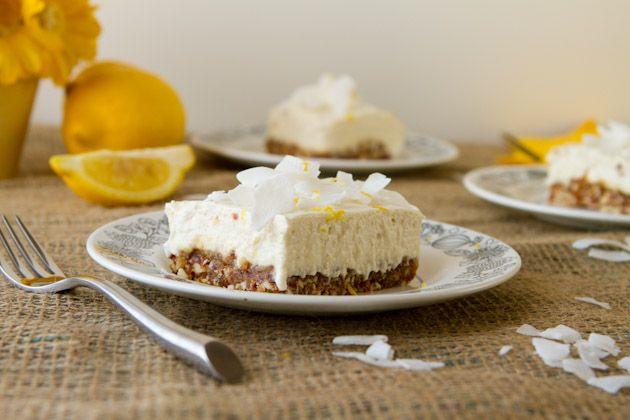 Hello, No-bake Lemon Cashew Squares! We can't get enough of creamy, lemony desserts!