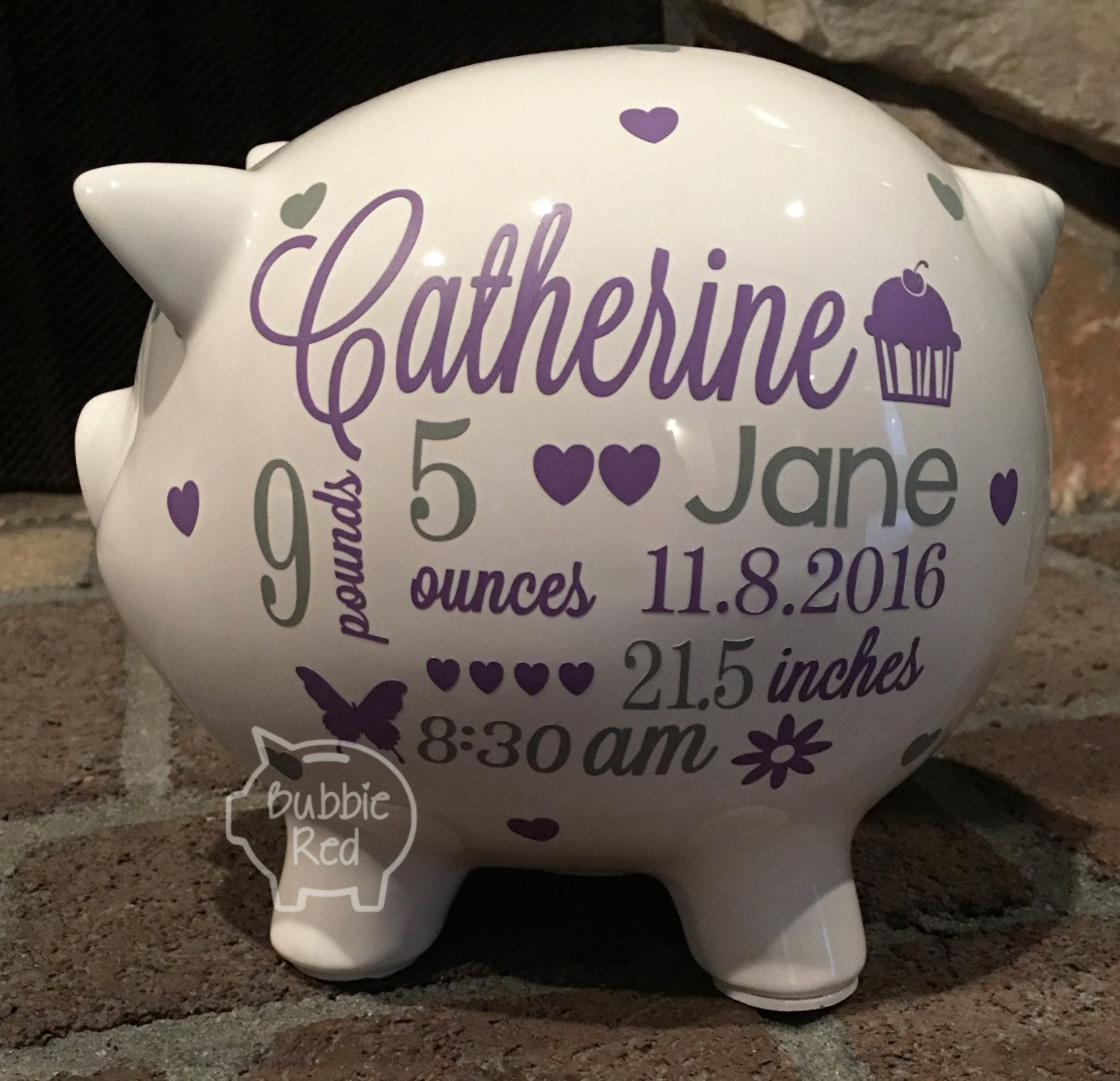 Personalized piggy bank baby girl piggy bank baby girl gift personalized piggy bank baby girl piggy bank baby girl gift piggy bank negle Images