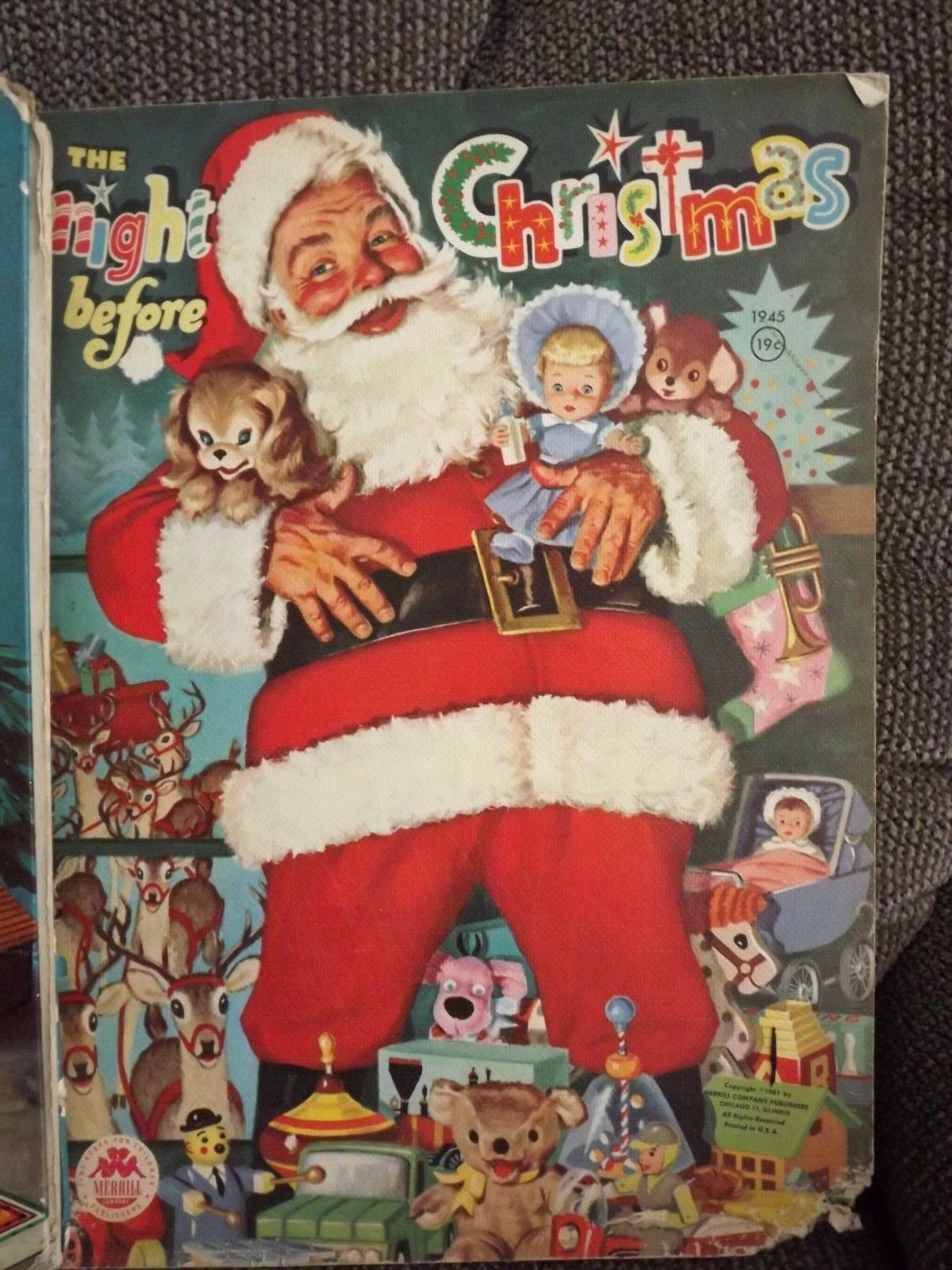 Vintage Christmas Books The Night Before Christmas 1961