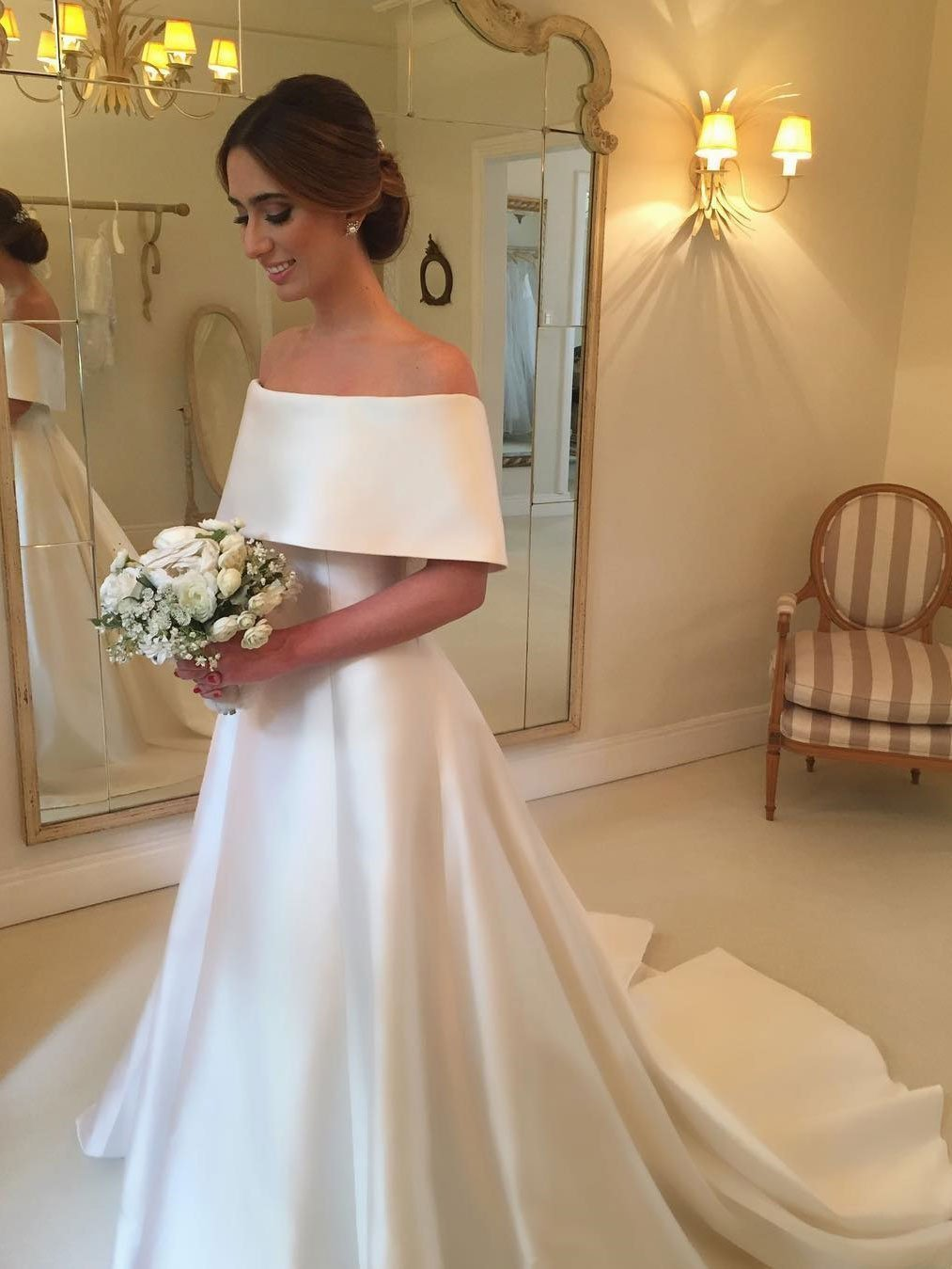 Dress for wedding party female  Simple Off Shoulder Aline Cheap Wedding Dresses Online Cheap