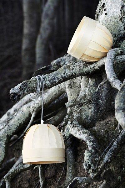 Lillebror - Wooden Veneer Lamp - Pendant lighting by Yndlingsting