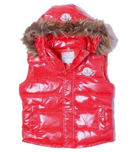 Hot Sale Moncler Casual Women Down Vest in Red [2900229] - £133.59 :