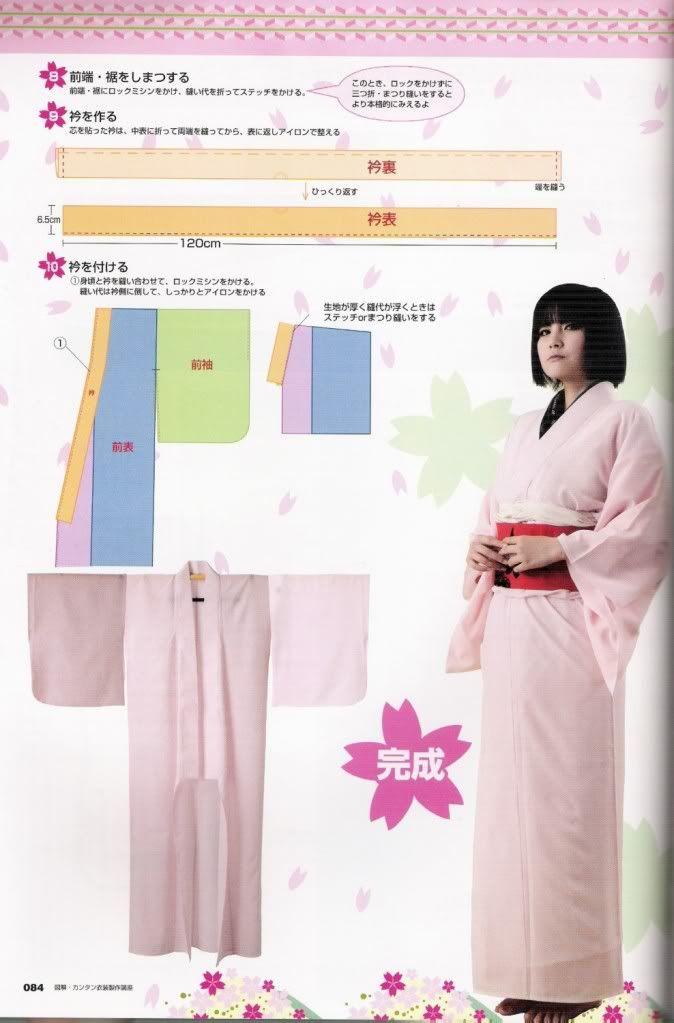Aprendiz de Cosplayer: Patrones: kimono sencillo | кимоно ...