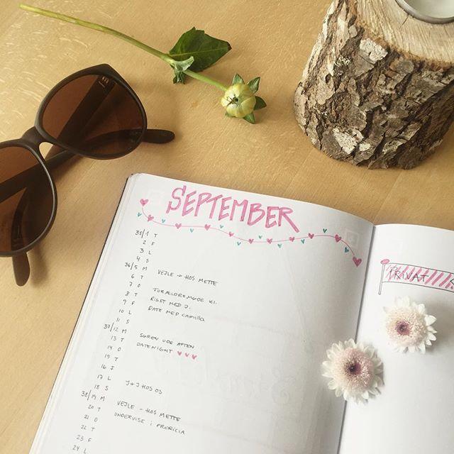 Klar til september ❤️ Masser af skønne aftaler er på plads! 💫💫💫 Nu handler det om at tage én dag ad gangen! 💫💫💫 Det er en kunst i sig selv!