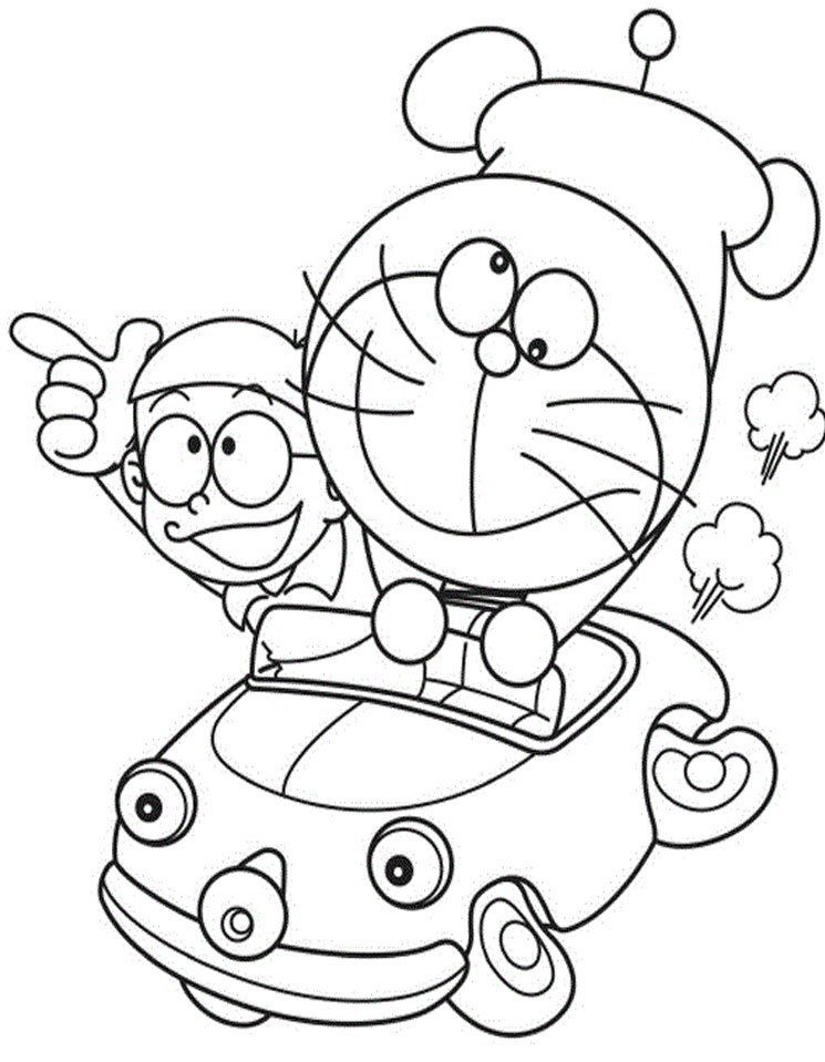 doraemon-and-nobita-colouring-pages | Painting | Pinterest