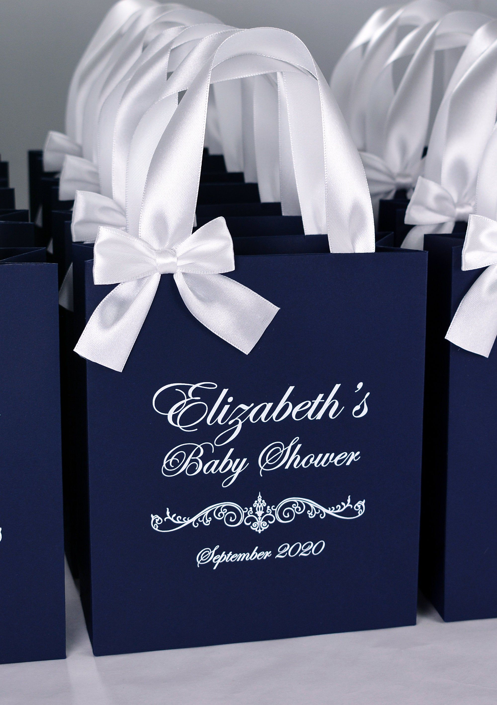 25 Baby Shower Favor Bags Personalized Baby Shower Treat Bags