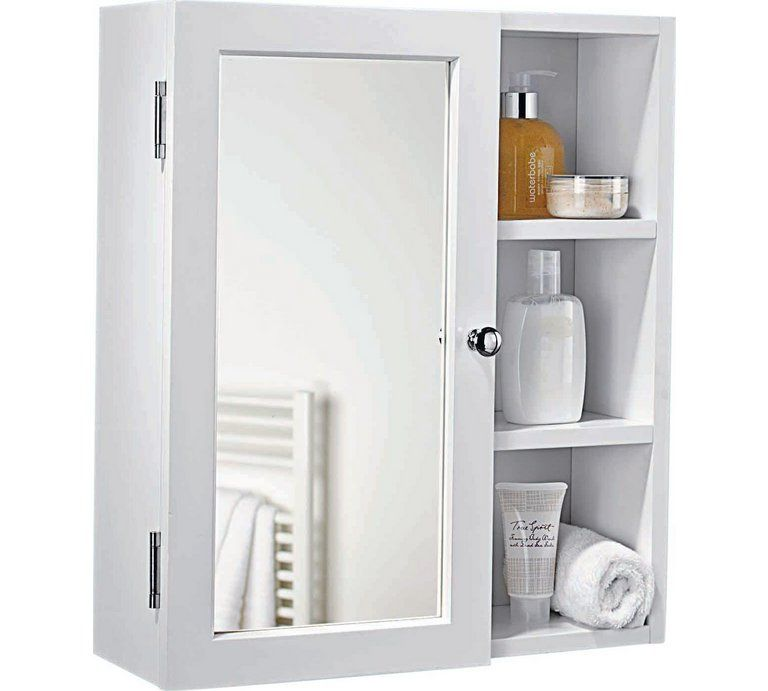 Buy Argos Home 1 Door Open Shelf Mirrored Cabinet Bathroom Cabinets Muebles Para Banos Pequenos Espejos Para Banos Muebles De Bano