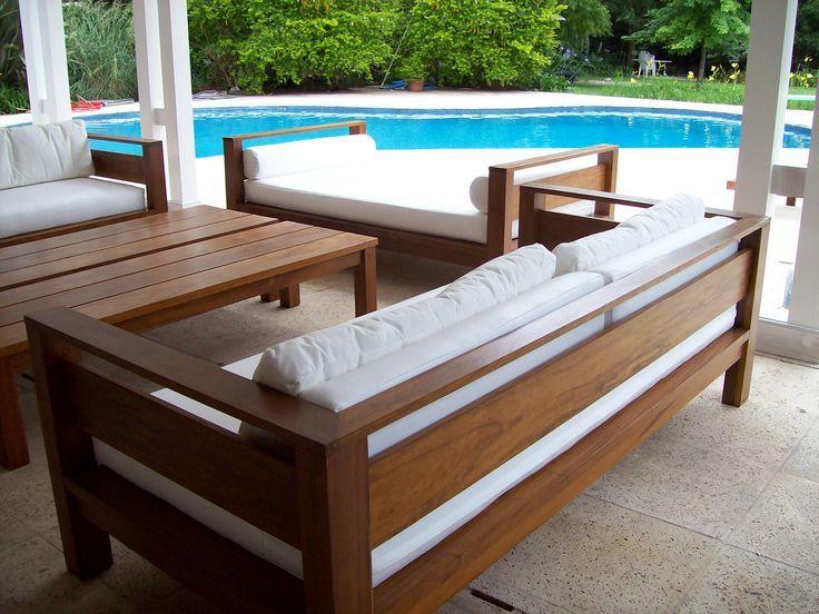 Sillones de madera para jardin buscar con google azoteas - Mueble de exterior ...
