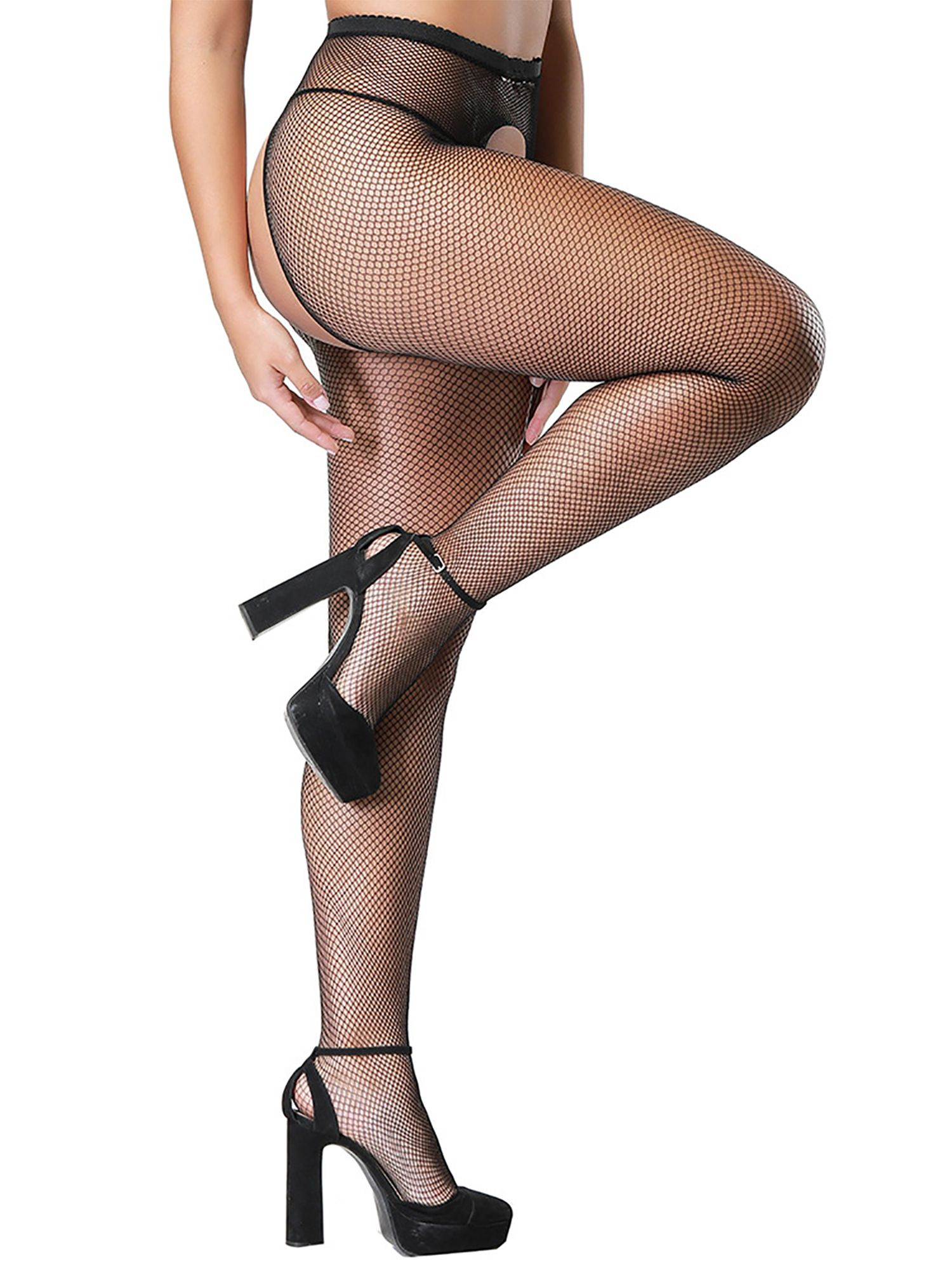 LEIGH: Wool crouthless pantyhose