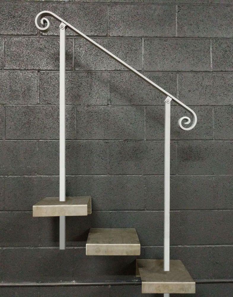 Best Iron Handrail 3 To 6 Foot In Ground Posts Steel 400 x 300
