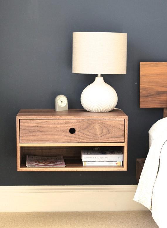 Floating Nightstand in Solid Walnut — Krøvel Furniture Co