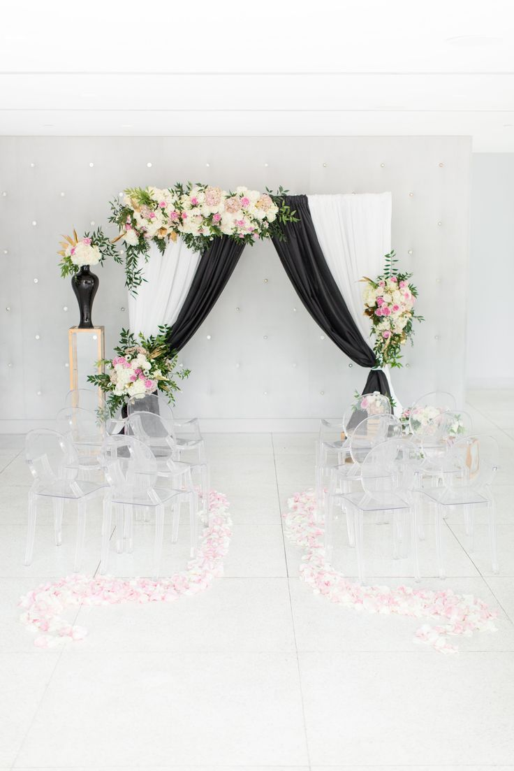 Modernize Your Black & White Wedding With A Splash Of Pink & Gold ...