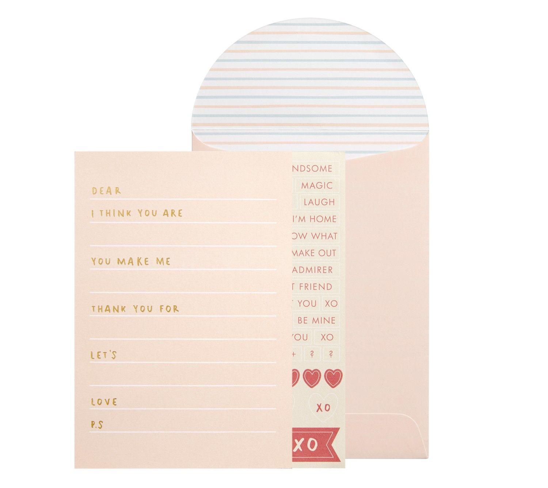 Diy Love Letter Card Met You  Blank Space