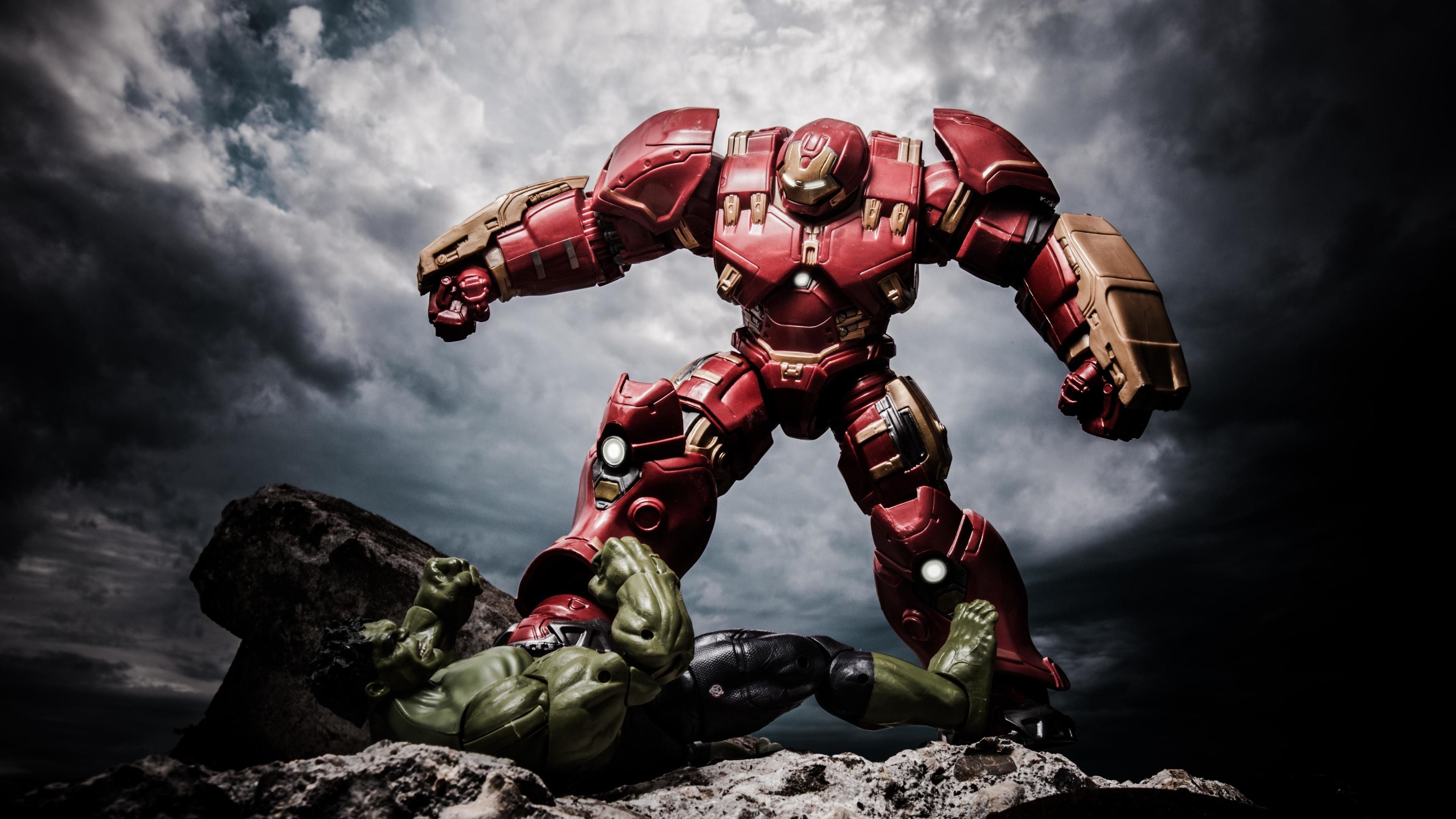 Wallpaper 4k Ironman Hulkbuster Vs The Hulk 4k Wallpapers 5k