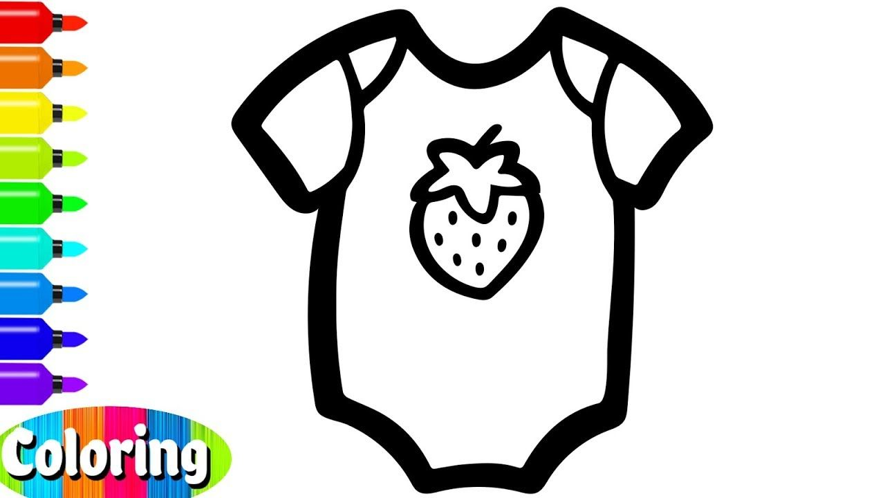 Coloring 8 Baby Clothes And Dress For Girl Drawing And Coloring Page For Toddlers