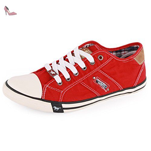 Mode ShoesBaskets Femme RedChaussures Mustang Pour Rouge rxBoeWdCQ