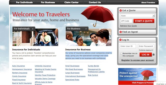 Travelers Insurance Login Travelers Com Online Page Travel