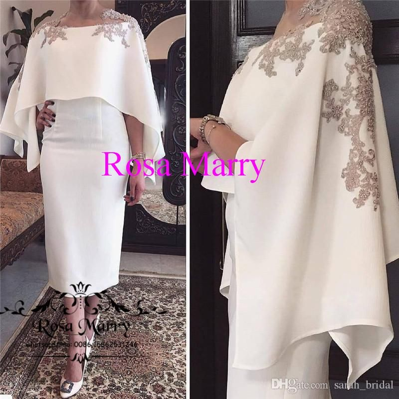 d1dbba6b20 Plus Size Caped Mother Of the Bride Groom Dresses Pant Suits 2018 ...