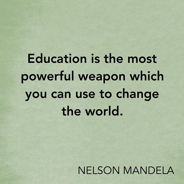 Inspirational Quotes About Education Unique Inspirational Quote  Education Is The Most Powerful Weapon To .