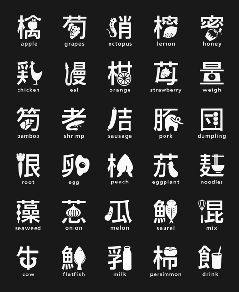 これぞ 漢字アート 絶妙なバランスで表現されたユニークな漢字たち Japaaan デザイン タイポグラフィー 字体 デザイン