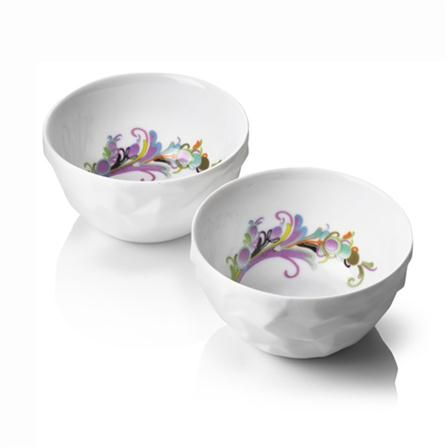 Raw Ceramic Dishes Set of 2