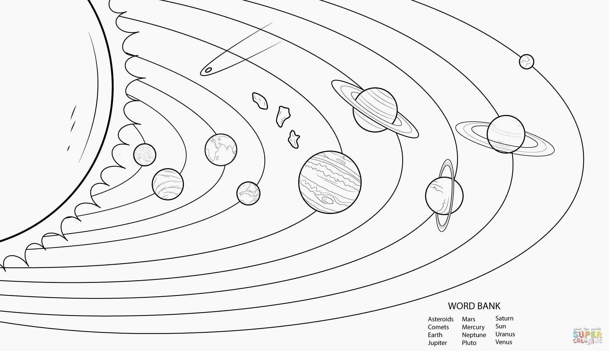 Solar System Coloring Pages Best Of Planet Pluto