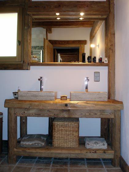 meuble vasque salle de bain rustique - Recherche Google ...