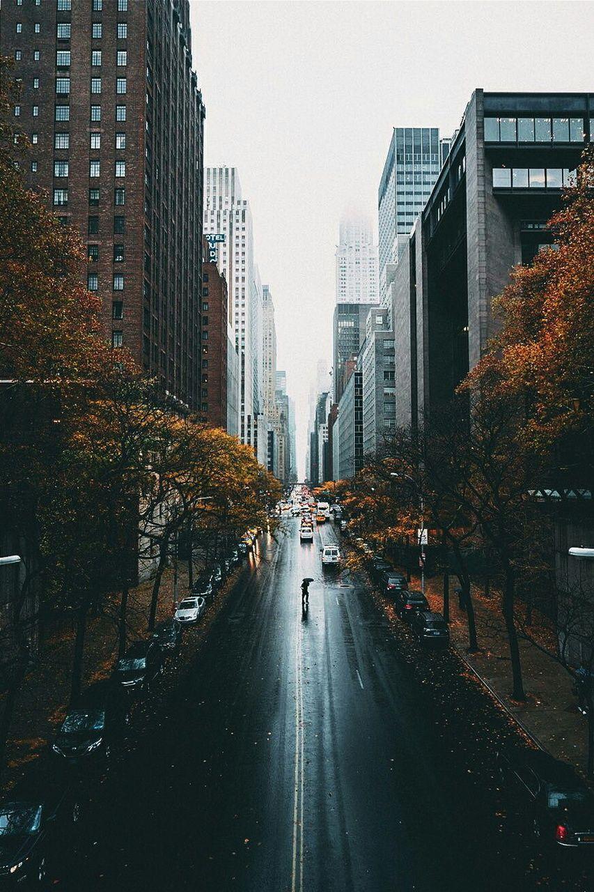 Rainy Fall Day In New York City