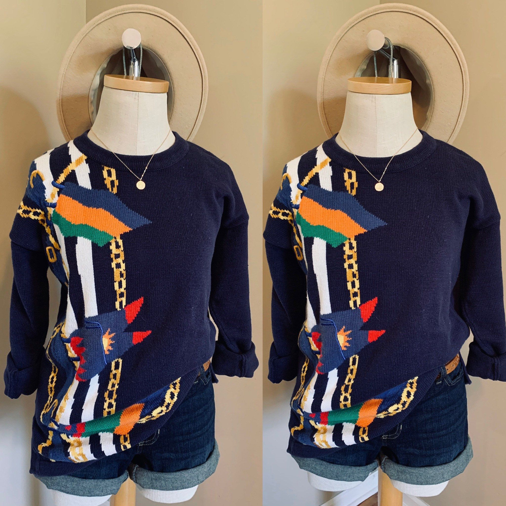 Talbots Nautical Sweater Etsy In 2020 Nautical Sweater Sweaters Vintage Nautical