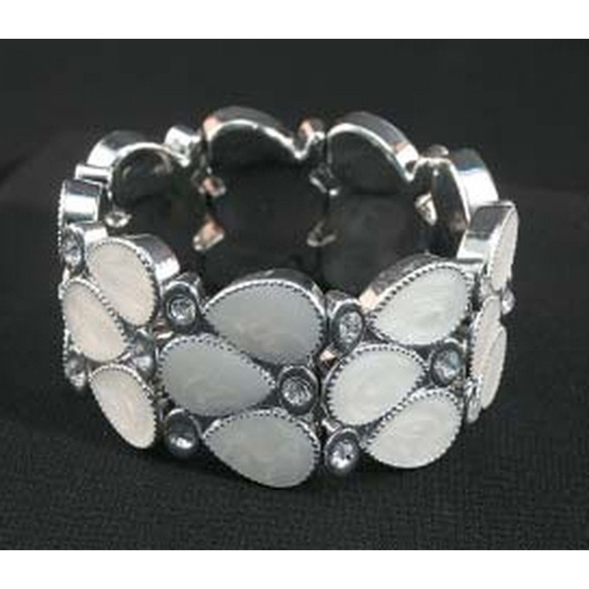 White Stone Stretch Bracelet #CartsOnFire #shopwithapurpose