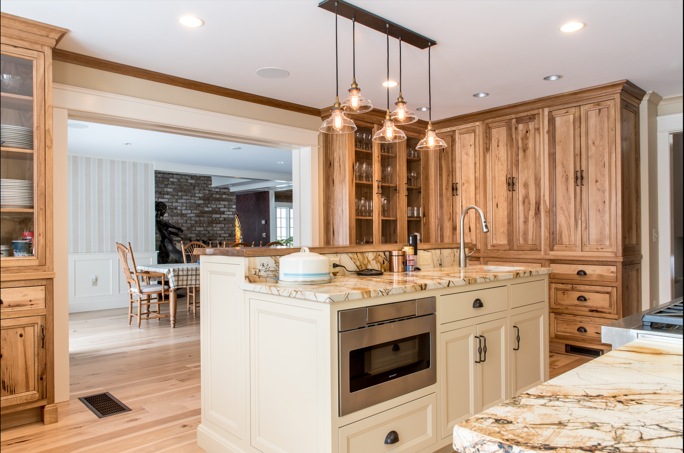 Rustic Kitchen remodel Rehoboth MA Full inset cabinetry