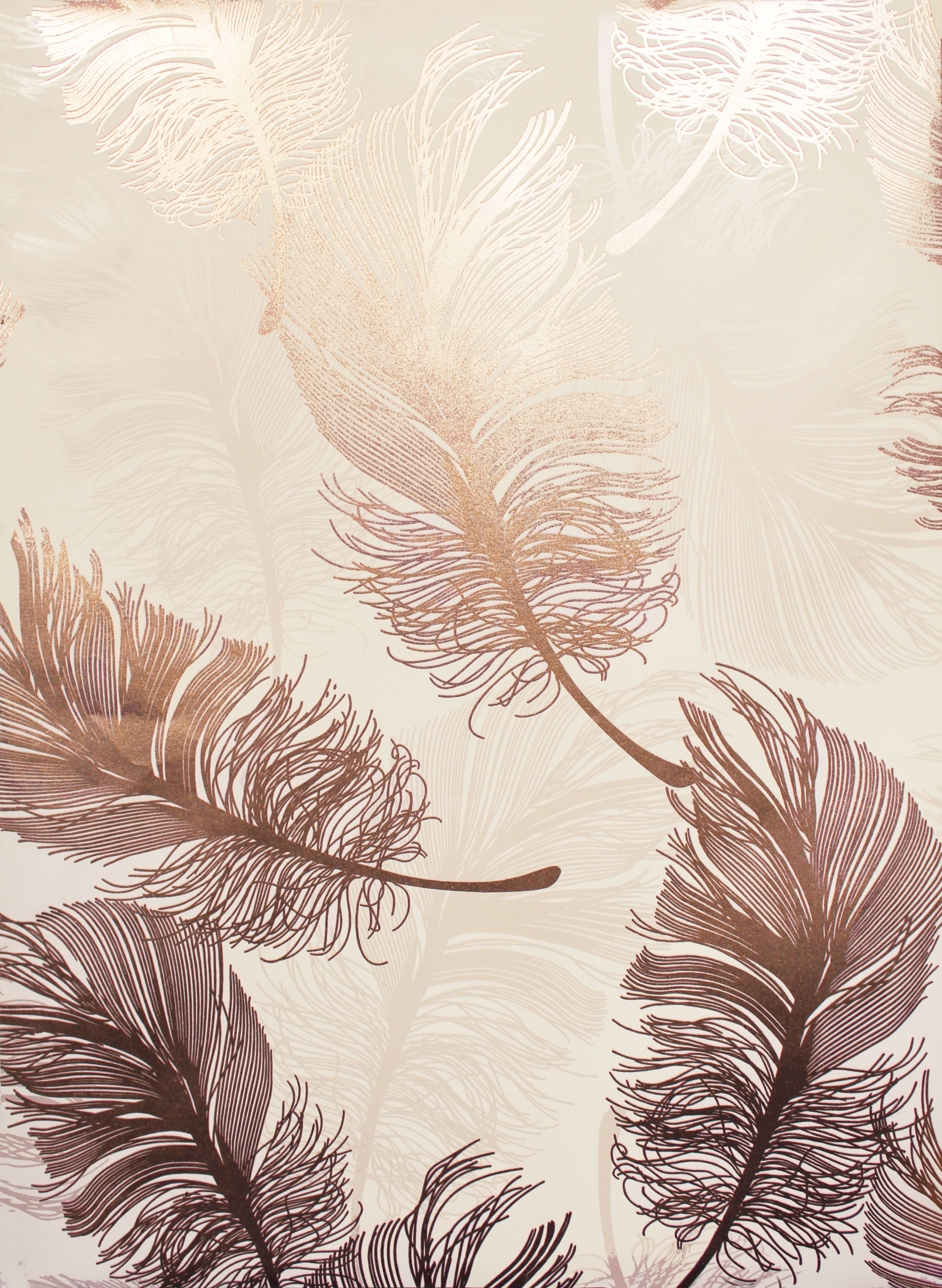 Rose Gold Feather Wallpaper Mia Moon Jewels 2018 Color