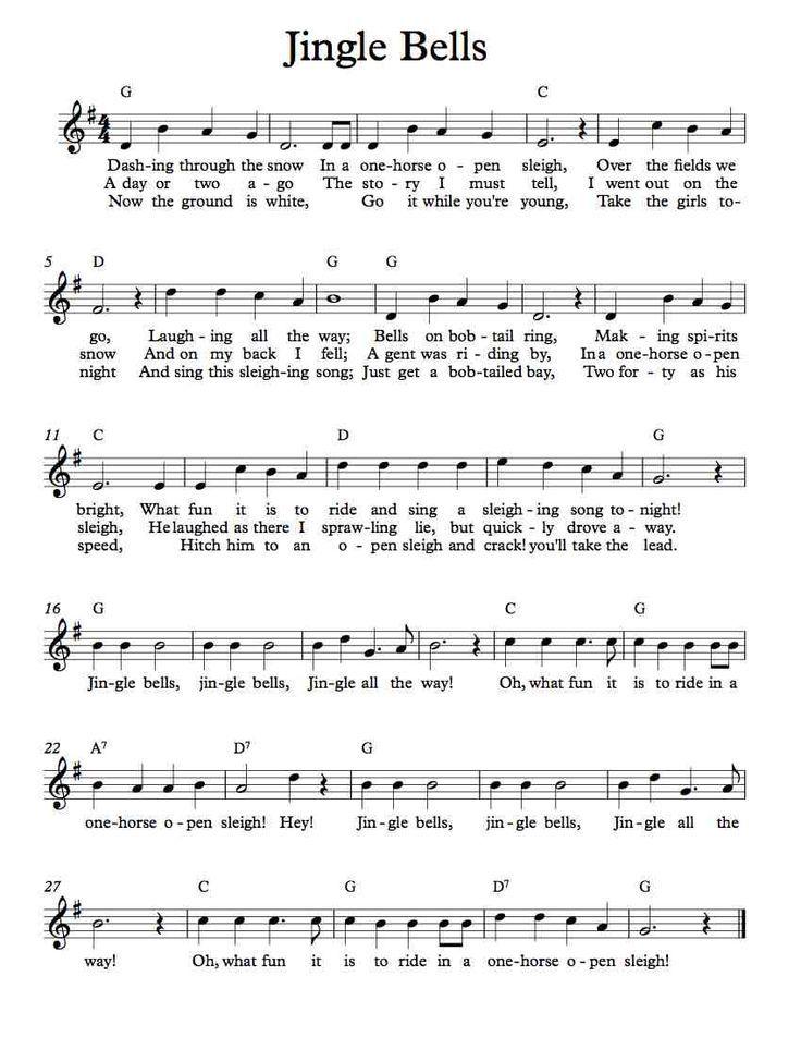 Free Lead Sheet Jingle Bells Clarinet Sheet Music Piano Music Flute Sheet Music
