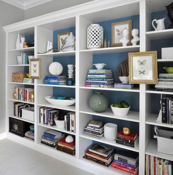 The BIlly Ikea Bookcases As Built-in Paint Back Of Shelves