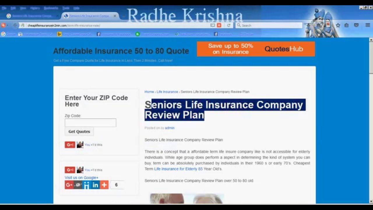Life Insurance Quotes For Seniors Seniors Life Insurance Company Review Plan  Life Insurance For