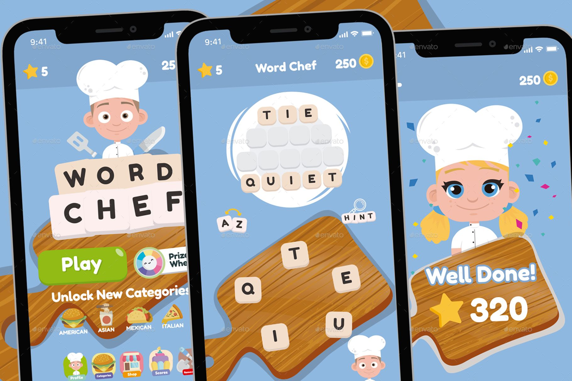 Word Chef Game Gui Assets AD Chef, affiliate, Word,