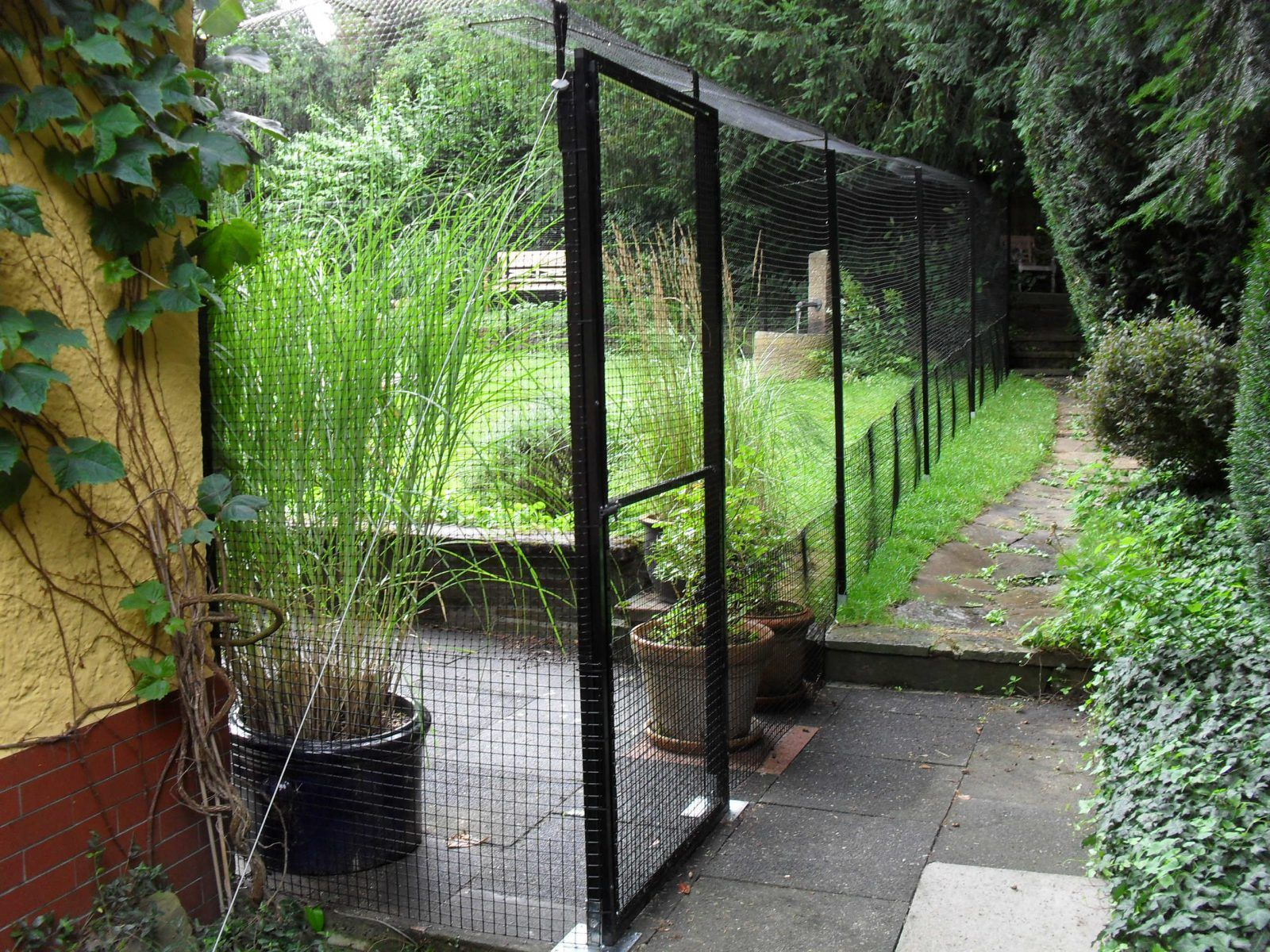 katzengehege system zur gartensicherung katzen pinterest katzen selber bauen und balkon. Black Bedroom Furniture Sets. Home Design Ideas