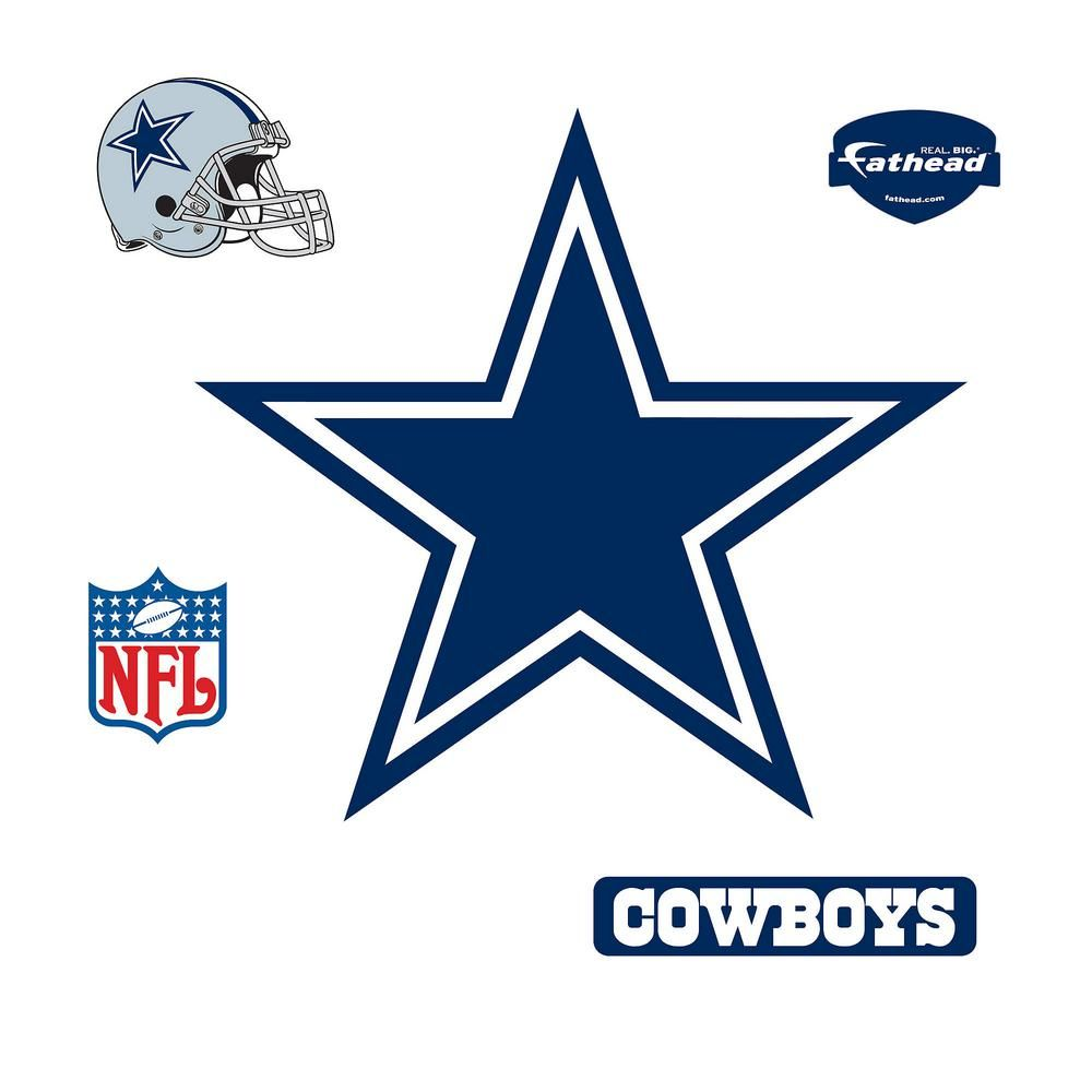 Fathead 39 in. H x 42 in. W Dallas Cowboys Logo Wall Mural 14-14011 #dezbryant