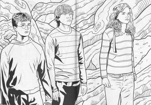 Harry potter coloring pages hermione printable pages