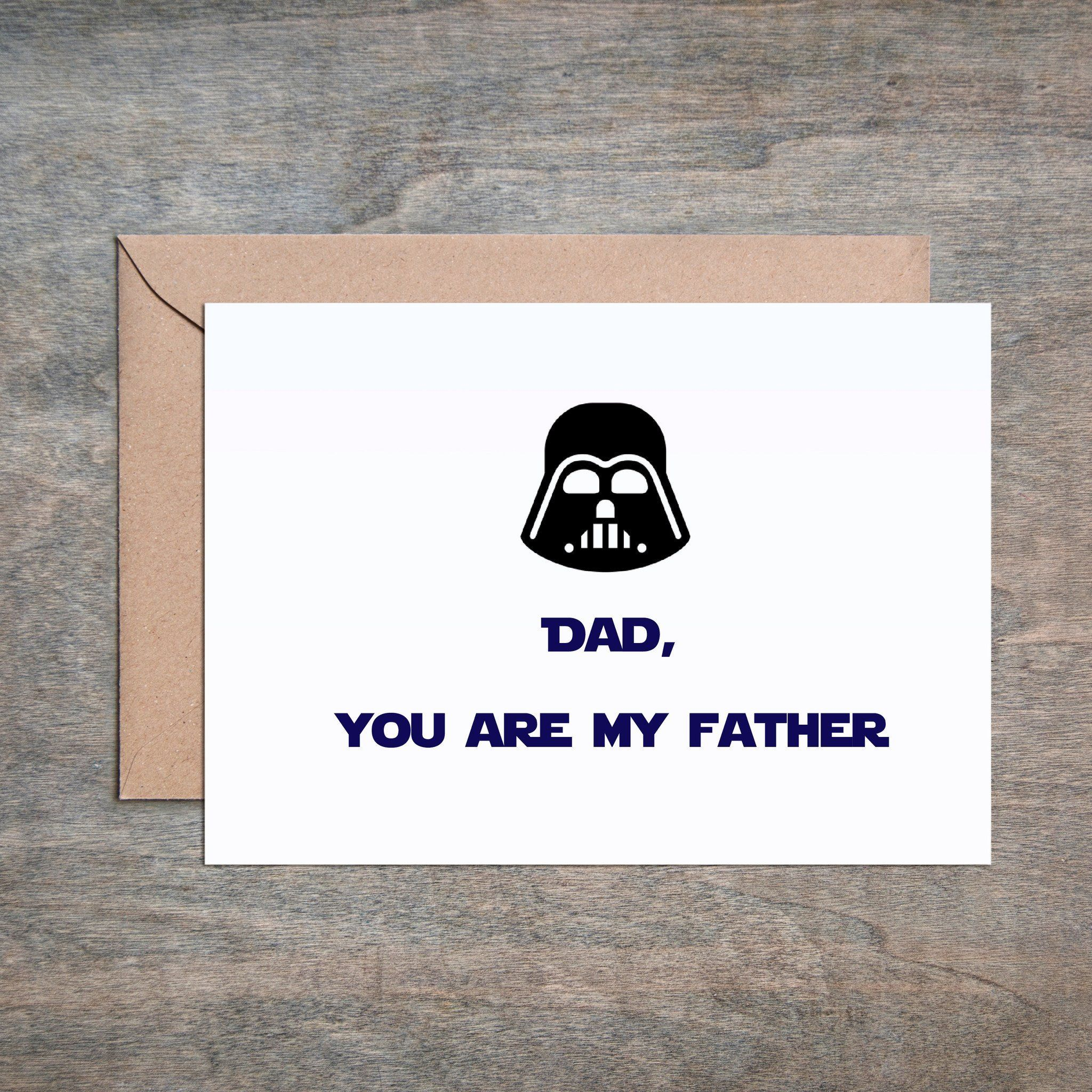 Dad Youre My Father Darth Vader Fathers Day Card Funny Fathers