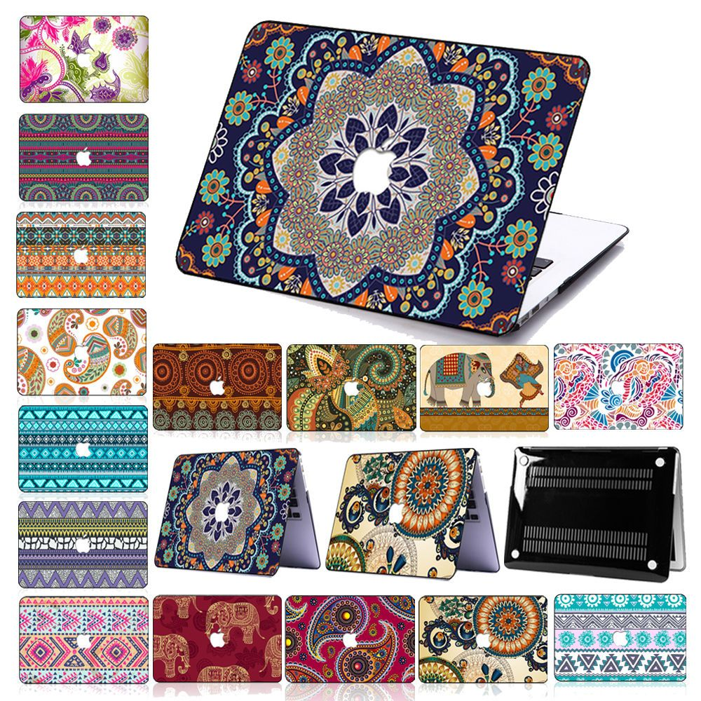 Boho Decal Print Hard Case Keyboard Cover For Macbook Air 11 12Pro 1315Retina