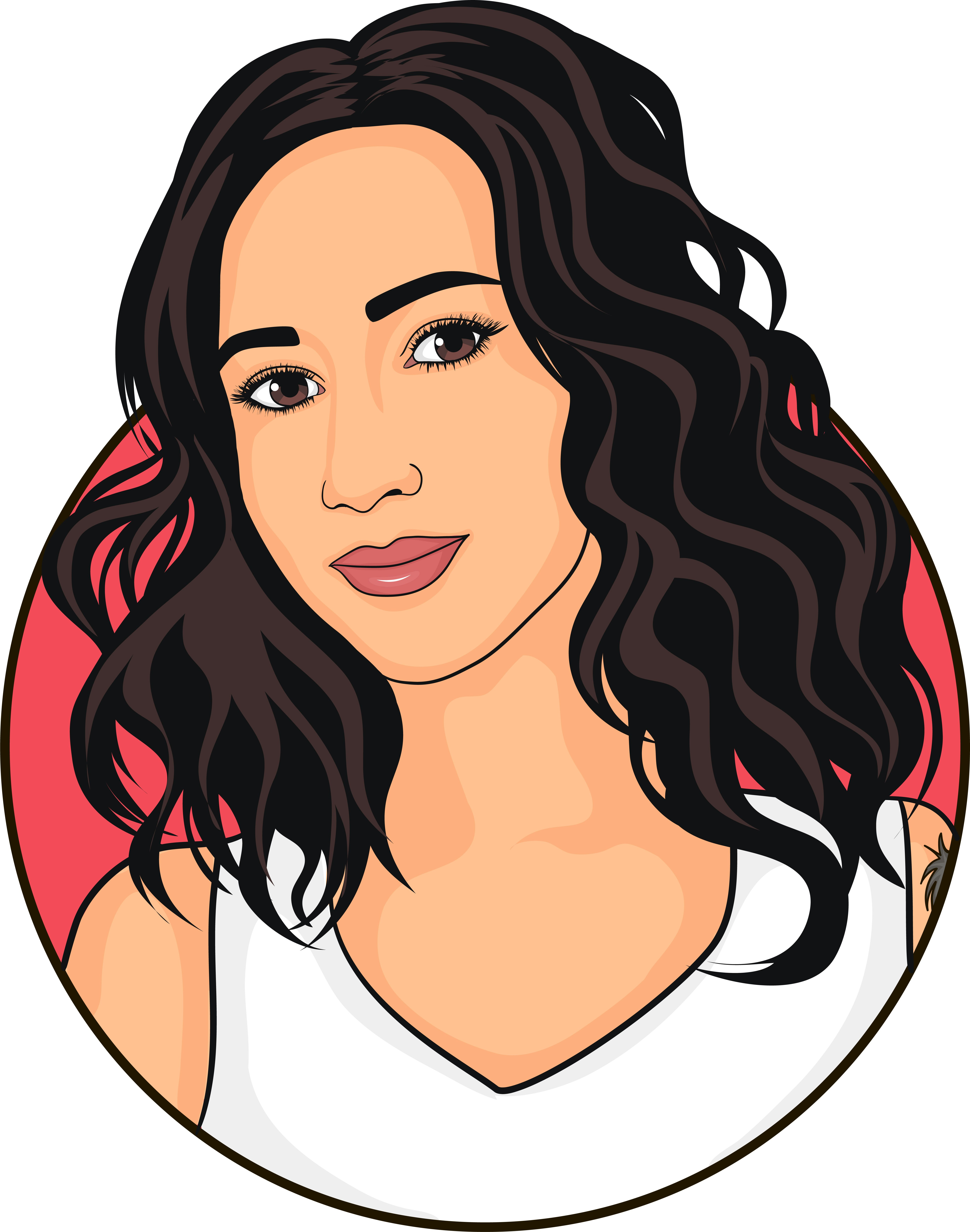 Pin By Alicia On Imagenes Dibujos Digital Portrait Digital Portrait Illustration Vector Portrait Illustration