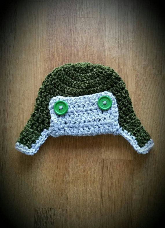 Baby boy CROCHET hat baby Deer hunter hat baby ear flap by chummy mummy f18f803d40d1
